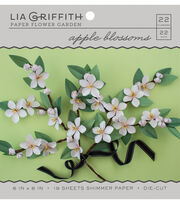 Lia Griffith Paper Flower Garden-Apple Blossoms, , hi-res