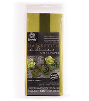 Lia Griffith 9.8''x49.2'' Double Sided Crepe Paper-Shades of Green, , hi-res