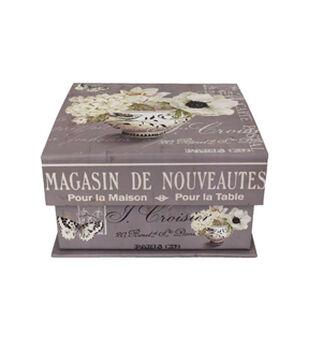 medium square tab box blossom - Decorative Boxes