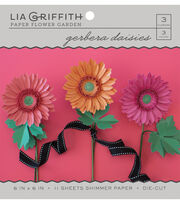Lia Griffith Paper Flower Garden-Gerbera Daisies, , hi-res